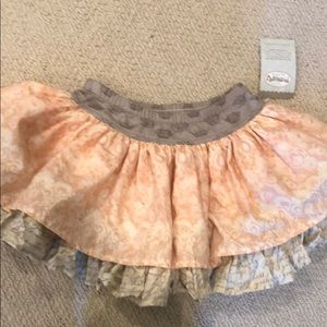 NWT Persnickety Lily Skirt size 4 pink gray